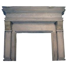 Large French Renaissance Style Marble Lafayette Hughes Mansion Fireplace Surround