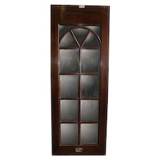 Vintage Mahogany Single Sided Beveled Mirrored Panel
