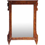 French Provincial Louis XVI Pine Wall Mirror