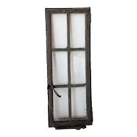 Medium American Lafayette Hughes Mansion Painted Iron Casement Window