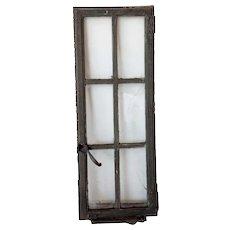 Medium American Lafayette Hughes Mansion Painted Iron Casement Window
