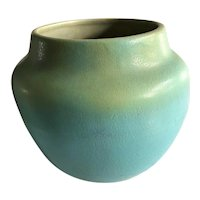 Early American Van Briggle Art Pottery Matte Green Vase