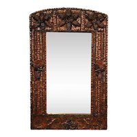 Large Continental Black Forest Acorn and Pine Wall Mirror
