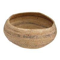 Vintage Native American Hand Woven Basket Bowl