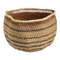 Vintage Native American Hupa Open Work Twined Woven Basket