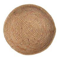 Native American Navajo Round Woven Basket Wedding Tray
