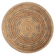 Vintage Native American Navajo Round Woven Wedding Basket Tray