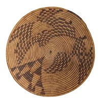 Native American Pima Woven Round Basket Tray