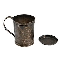 American Frank M. Whiting and Baltimore Silversmiths Sterling Silver Mug and Dish