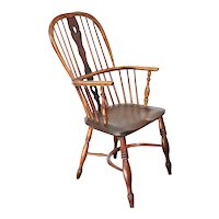English Georgian Elm High-Back Windsor Armchair