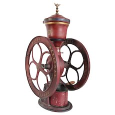 Large American Woodruff & Edwards Elgin National Red Cast Iron No. 44 Coffee Mill