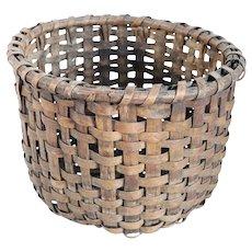 American Primitive Hickory Splint Round Basket