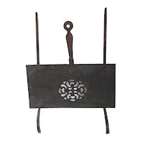 Forged Iron Reticulated Fireplace Hearth Sliding and Hanging Trivet