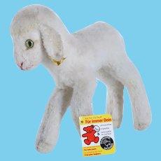 Vintage German Steiff Stuffed Lamby Sheep Wool Plush Toy