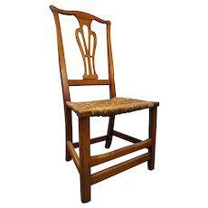 American Chippendale Style Maple and Birch Side Chair