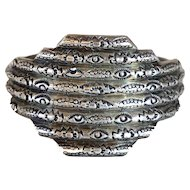 Vintage Native American Navajo Indian Hand Stamped Silver Cuff Bracelet