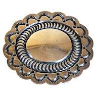Vintage Native American ROBERT JOHNSON Navajo Sterling Silver Concho Pin