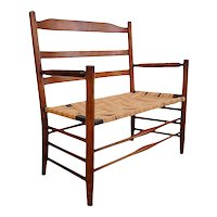 Small American New England Shaker Style Birch Wagon Buggy Bench