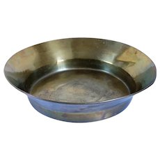 Large Russian Brass Round Gallery Tray / Bowl