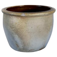 American Pennsylvania Stoneware Brown Glazed Ceramic Pot