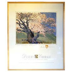 GUSTAVE BAUMANN Color Lithograph Concert Poster, The Bishop's Apricot