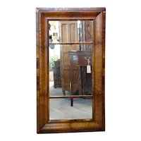 Large Mahogany Veneer Rectangular Mirror