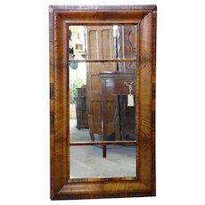 Large Mahogany Veneer Rectangular Mirror
