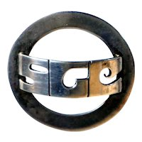 American LEONORE DOSKOW Mid-Century Modern Sterling Silver Scarf Ring Buckle