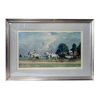 After SIR ALFRED J. MUNNINGS Color Print, Their Majesties' Return from Ascot