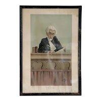 FREDERICK T. DALTON Vanity Fair Chromolithograph, The New Judge