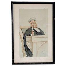 CARLO PELLEGRINI (APE) Vanity Fair Chromolithograph, Popular Judgment