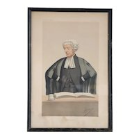 CARLO PELLEGRINI (APE) Vanity Fair Chromolithograph, A Future Judge