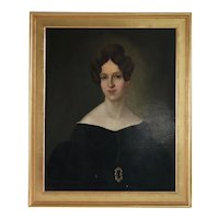 ANTON ZOTTMAYR Oil on Canvas Painting, Portrait of a Lady