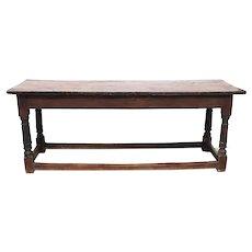 Long English Oak Refectory Table
