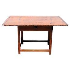 American New England Pine Plank Top Tavern Table