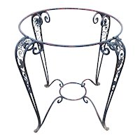 Argentine Wrought Iron Round Garden Patio Table Base