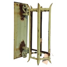 Green Painted Wrought Iron Bracket Exterior Lantern