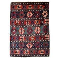 Wool Flat Weave Kilim Carpet