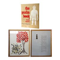 Two Vintage Bookplates: The Psalm Book of CHARLES KNOWLES Woodcuts with Book