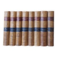 Set of 8 Leather Bound Books: The Works of GEORGE ELIOT