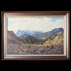 JAMES EMERY GREER Oil on Canvas Painting, The Elk Range, Colorado