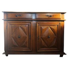French Louis XIII Fruitwood Sideboard Cabinet