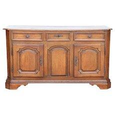 French Louis XIV Oak Enfilade Sideboard