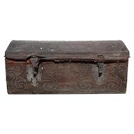 Portuguese Don Joao Leather Studded Dome-Top Trunk