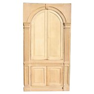American or English George III Pine Built-in Cabinet