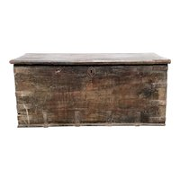 Early Indo-Portuguese Iron Mounted Teak Blanket Chest