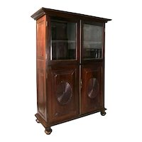 Anglo Indian Rosewood Glazed Door Bookcase