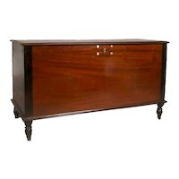 Anglo Indian Rosewood and Mahogany Blanket Chest