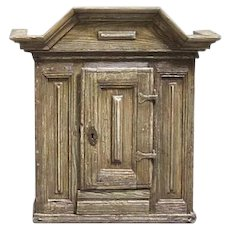 Swedish Baroque Painted Pine Hanging Tobacco Cupboard
