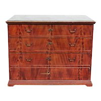Swedish Allmoge Faux Grain Painted Pine Four-Drawer Chest of Drawers